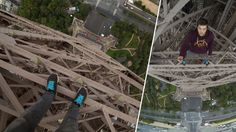 Free climbing the Eiffel Tower the non-touristy way.