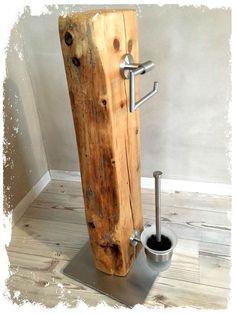 Zum Verkauf steht hier ein absolutes Unikat aus dem Hause **KonzeptFrei**. Dieses WC-Set wurde in Handarbeit von uns hergestellt. -Recyceltes Holz aus altem Fachwerkhaus (geschliffen, mehrfach... #bathroomideas