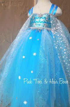 Elsa Tutu dress- Elsa frozen tulle dress- Elsa dress- Elsa costume by