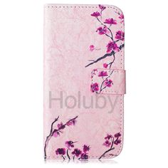 Cross Pattern TPU+ PU Leather Stand Case for Samsung Galaxy S6/ G9200 Flowers