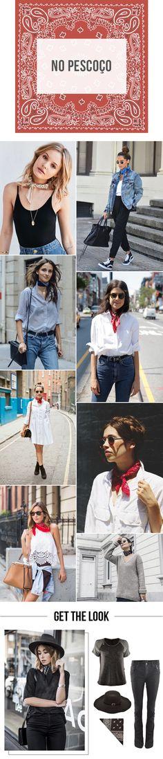 Bandana Lovers! | Como usar bandanas no pescoço. | 4 jeitos de usar a sua bandana! #moda #look #outfit #getthelook #inverno #tendência #streetstyle #style #estilo #dicas #ootd #blog #lnl