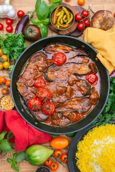 Khoresh Gheymeh Bademjoon is a flavourful Persian Lamb and Aubergine Stew with Yellow Split Peas. Medeteranian Recipes, Vegan Recipes Videos, Lamb Recipes, Cooking Recipes, Vegetarian Recipes, Dinner Recipes, Middle Eastern Dishes, Middle Eastern Recipes, Aubergine Recipe