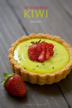 How gorgeous are these Strawberry Kiwi Tartlets? Kiwi curd is maybe my new favorite thing. Strawberry & kiwi were made for each other!