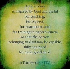 Created by @Reydollete on 2 Timothy 3:16-17!
