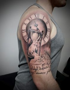 Broken hourglass tattoo