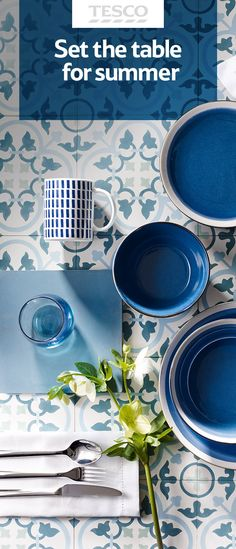Brighten up your home with our new spring/summer collections. Our great value designs are sure to give your dining table a modern summer vibe.