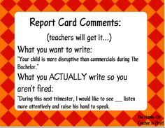 Report Card Comments....Made EASY!