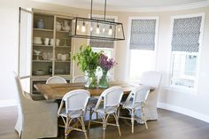 Serena & Lily Riviera Side chairs in navy -- Studio McGee via Marcus design