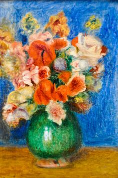 Pierre Auguste Renoir - Bouquet, 1900 at Musée de l'Orangerie Paris France