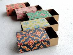wedding favor box, Match box, Packaging box, Gift box -10 assorted Lattice print and Gold match box , Jewelry Packaging Boxes via Etsy