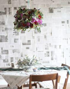 9 DIY Fresh Flowers And Greenery Chandeliers | HappyWedd.com