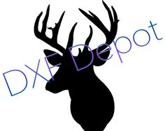 Deer Head .dxf format.  CNC Cut File  Vector Art  Clip by DXFdepot, $2.00
