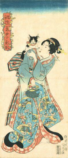 江戸時代から日本は「にゃんとも猫だらけ」だった(浮世絵)