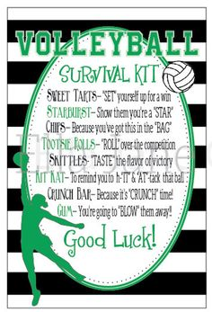This sort of thing For the day& survival tip it looks excellent . => This sort of thing For the day's survival tip it looks excellent .,=> This sort of thing For the day's survival tip it l. Volleyball Snacks, Volleyball Training, Volleyball Crafts, Volleyball Team Gifts, Volleyball Posters, Volleyball Workouts, Coaching Volleyball, Volleyball Ideas, Volleyball Motivation