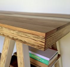 Collapsable Trestle Table with Drawer - R4500 - Ply Wood and Reclaimed Timber. Height - 0,78m  Length - 1,8m  Width - 0,7m   more info email info@vidadesigns.co.za