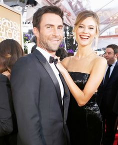 Adam Levine and Behati Prinsloo's Cutest Couple Moments - 2015 from InStyle.com