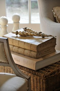 Vellum books .... design by Brooke Giannetti (of course)