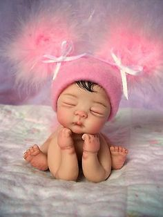 "❤OOAK HAND SCULPTED  BABY GIRL ""JOHANNAH""   BY: JONI INLOW* DOLLY-STREET❤"