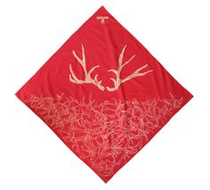 Our Antler Bandana is made from hand-drawn artwork, and hand-pulled screenprinting on cotton bandanas in Brooklyn, NY. We then wash them and scrub them several times to soften them up to give you the perfect feel. It's a versatile item, great for keeping your head cool on the trail, or hiding away in your back pocket in your day-to-day.