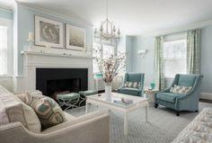 Blue Living Room Inspiration - OnlineFabricStore.net Blog