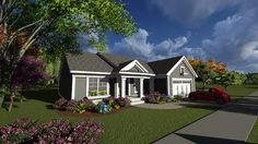 Graham Mill Ranch Home Ranch House Plan Front of Home - 051D-0828   House Plans and More from houseplansandmore.com