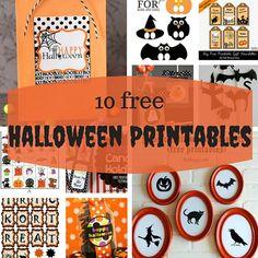 10 free Halloween printables
