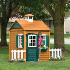 Wooden Playhouse Outdoor Toys Structure Tent Tunnel Playhut Swing Set Treehouse