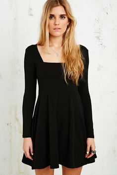 Kimchi Blue Chalotte Circle Dress in Black at Urban Outfitters
