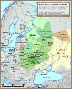 Carte de la Russie kiévienne - XIIIe siècle