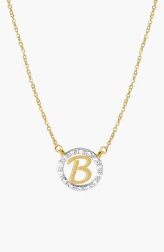New Jane Basch Designs Diamond Pave Initial Pendant Necklace,Silver fashion online. [$560]newoffershop win<<