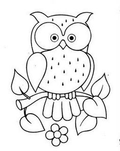 21 trendy Ideas for patchwork quilting patterns fun Owl Patterns, Applique Patterns, Quilting Patterns, Sewing Patterns, Owl Applique, Patchwork Patterns, Colouring Pages, Coloring Books, Motifs D'appliques