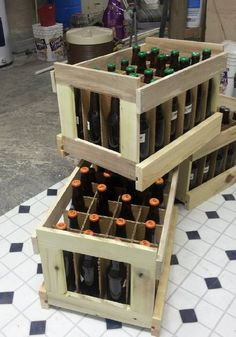 This is so simple! After years of thinking how do i store all this beer we're making! You could just make some of these up out of some old pallets! Doh!