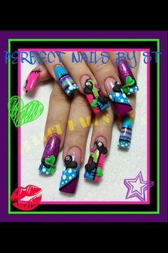 Beautiful long acrylic nails