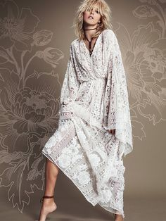 Free People Sheer Delight Lace Kaftan at Free People Clothing Boutique