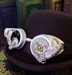 Steampunk Goggles G17  Mercury Design  by DesignsByFriston on Etsy