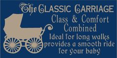 PRIMITIVE STENCIL THE CLASSIC CARRIAGE  12X24  .007 MIL FREE SHIPPING #FolkArtFromTheHarbor