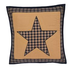 """A pretty way to accent your Teton Star Quilted Bedding is by adding our Teton Star Quilted Pillow 16"""" Filled decorative pillow.  You can never have too many pillows and it's a good way to add coordinating fabrics to your bedding.  http://www.primitivestarquiltshop.com/Teton-Star-Quilted-Pillow-16-Filled_p_9440.html"""