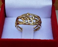 Statement Gold Ring 14K Yellow Gold Ring Friendship by TalyaDesign