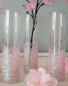 Lovely Glittery vases