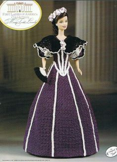 annie's attic first ladies of america collection | MARY TODD LINCOLN - First Ladies of America - Fashion Doll Crochet
