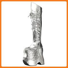 Plateau Stiefel Fabulous-3035 Silber, EU 41 (*Partner Link)