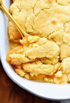 I added a bit of cinnamon too! This Best Peach Cobbler recipe is absolutely delicious and made with fresh ingredients. This is the dessert you will want to make a lot during the summer! Good Peach Cobbler Recipe, Best Peach Cobbler, Southern Peach Cobbler, Almond Flour Peach Cobbler Recipe, Home Made Peach Cobbler, Peach Cobbler Crisp, Dutch Oven Peach Cobbler, Peach Blueberry Cobbler, Gluten Free Peach Cobbler