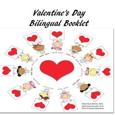 This 32 page booklet was designed to help students learn the vocabulary for Valentine's Day.  Eighteen vocabulary words are introduced by students seeing the words on valentine hearts in English and Spanish.  Students have to match the English word with the Spanish translation, and they will complete a matching activity at the end of the unit.