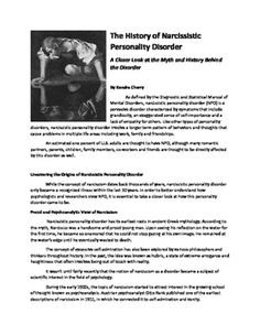 newspaper content articles on narcissistic attitude disorder