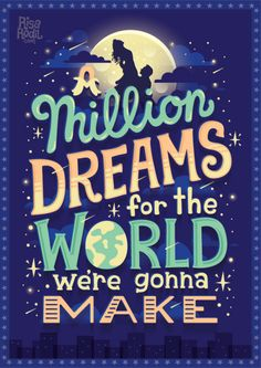 A million dreams are keeping me awake | The Greatest Showman Lyric Posters (4/6) Facebook | Instagram | Society6 | RedBubble | TeePublic