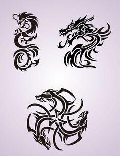 Circular dragon celtic knot motif