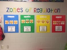 Zones of regulation give the students a chance to learn about their feelings and gives the teachers a chance to learn about their students. Elementary School Counseling, School Social Work, School Counselor, Career Counseling, Elementary Schools, Teaching Social Skills, Social Emotional Learning, Colleges For Psychology, School Psychology