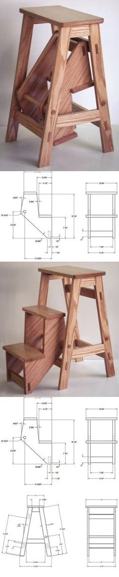 Start your Carpentry Business - Stool and stepstool combo Start your Carpentry Business - Discover How You Can Start A Woodworking Business From Home Easily in 7 Days With NO Capital Needed! Diy Wood Projects, Furniture Projects, Furniture Plans, Wood Furniture, Home Projects, Wood Crafts, Furniture Design, Shaker Furniture, Woodworking Business Ideas
