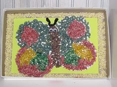 Macaroni Butterfly Shadow Box Valentine's Day Craft for Kids (Gift for Mom, Dad or Grandparent)