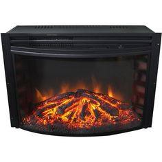 Hottest Pictures Electric Fireplace stove Style Cambridge Freestanding 5116 BTU Electric Curved Fireplace Insert with Remote Control Duraflame Electric Fireplace, Dimplex Electric Fireplace, Electric Fireplace Heater, Wall Mount Electric Fireplace, Fireplace Heater Insert, Stove Fireplace, Fireplace Inserts, Double Sided Electric Fireplace, Black Electric Fireplace